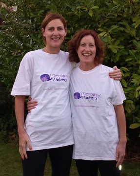 Two of our volunteers and supporters who ran the Swindon Half Marathon for our Memory Makers programme